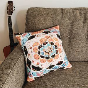 Boho patchwork pillow cover